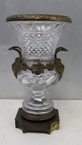 PAIRPOINT. Signed Silverplate Mounted Cut Glass