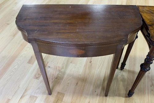 Lot Of 19 Century Game Tables To Inc.
