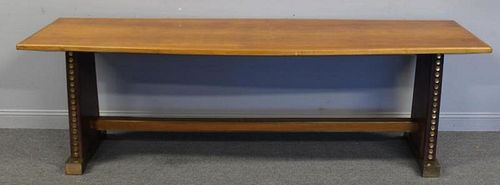 Designer Art Deco  Style Slab Console With