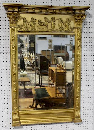 Antique Giltwood Neoclassical Mirror
