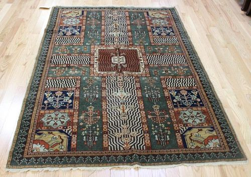 Antique and Finely Woven Area Carpet .