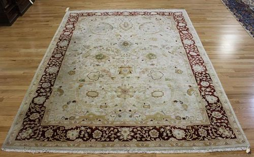 Vintage and Finely Woven Roomsize Handmade Carpet