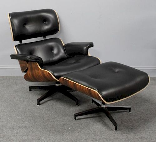 MIDCENTURY. Eames Style Lounge Chair and Ottoman