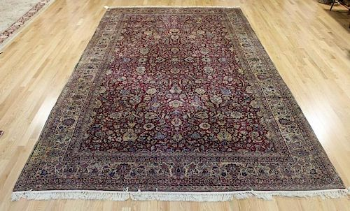 Large Antique And Finely Woven Kirman Carpet .
