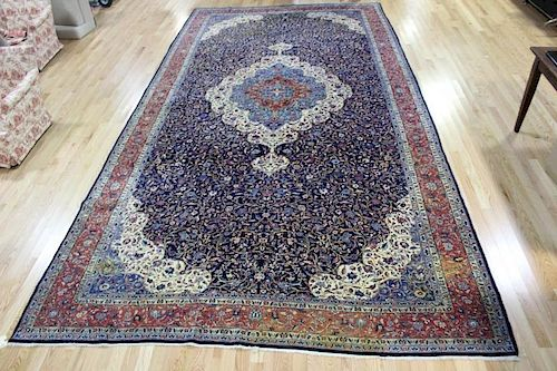 Large and Impressive Finely Woven Antique Carpet .