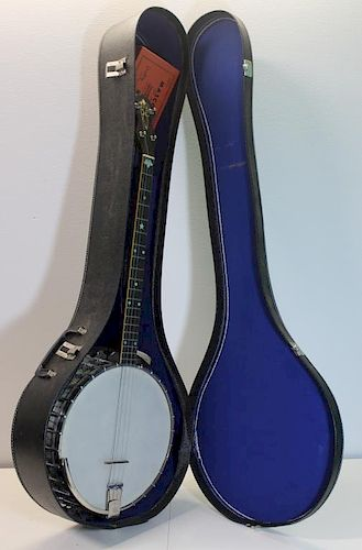 VEGA. Signed Tenor Banjo in Hardshell Case.