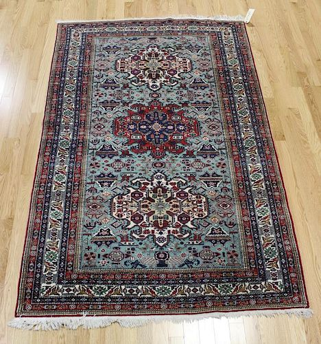 Vintage and Finely Woven Kazak Style Carpet .