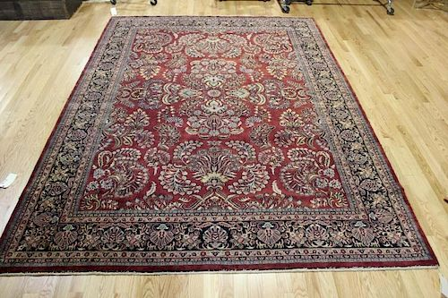 Vintage and Finely Woven Handmade Sarouk Style