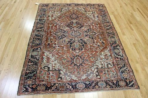 Antique and Finely Woven Heriz Carpet .