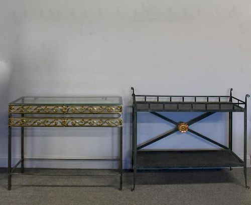 Lot Of 2 Quality and Decorative Metal Consoles