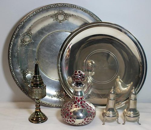 STERLING. Assorted Grouping of Hollow Ware.
