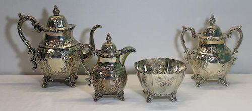 SILVER. William Gale & Son Coin Silver Tea Service