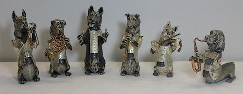 Signed J.M. Calero 6 Piece Dog Band.