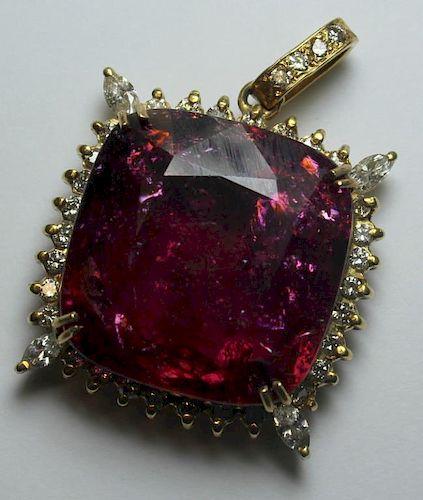 JEWELRY. GAL Certified 51.85 Pink Tourmaline, 14kt
