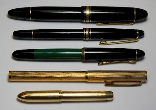GOLD. Assorted Pens Including 14kt Gold.
