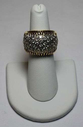 JEWELRY. Hammerman Bros 18kt and  Diamond Ring.