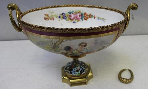 SEVRES. Bronze Mounted, Paint and Enamel