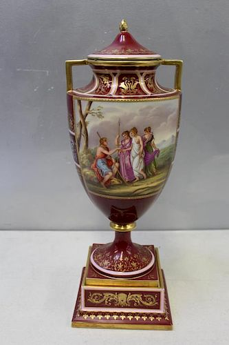 Royal Vienna Paint and Gilt Decorated Porcelain