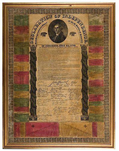 Jacksonian—Era Broadside Edition of the Declaration of Independence.