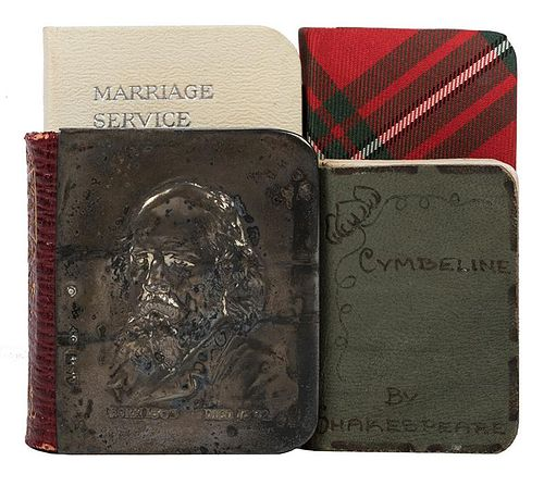 Lot of Four Miniature Books Printed by David Bryce, Eyre and Spottiswoode, and Andersons.