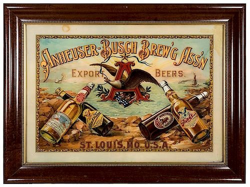 Anheuser—Busch Brew'g Ass'n Export Beers. St. Louis, Mo. U.S.A.