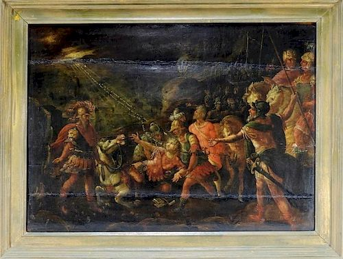 16C. French Mannerist Allegorical Painting of Paul