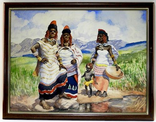 John Lavalle South African Umtata Women Painting