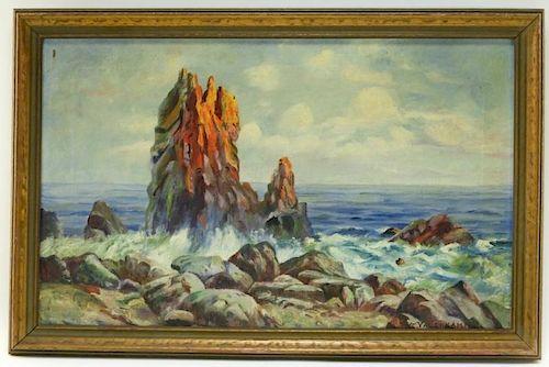 Theodore Valenkamph Rocky Coast Seascape Painting
