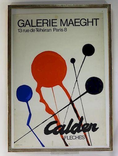 Alexander Calder Galerie Maeght Exhibition Poster
