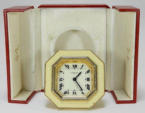 Cartier Paris Les Must Sapphire Enamel Alarm Clock