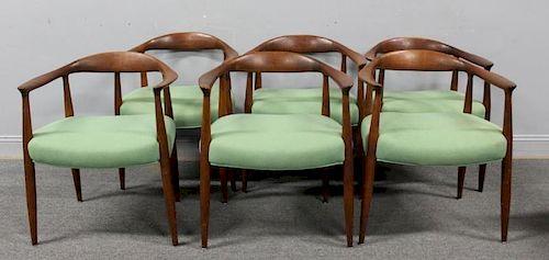 "MIDCENTURY. 6 Hans Wegner ""The"" Chairs ."