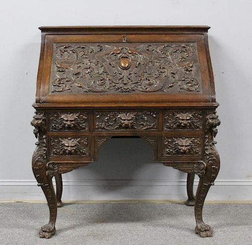 R.J. Horner  Oak Drop Front Desk