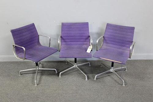 MIDCENTURY. 3 Eames By Herman Miller Swivel Chairs