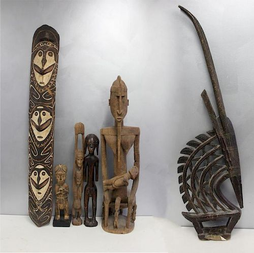 Lot Of Antique African Wood Carved Sculptures