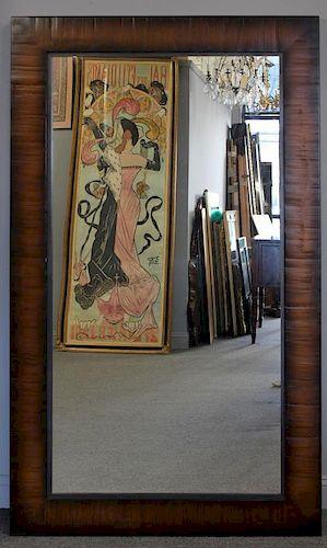 Holly Hunt . Large Wood Framed Mirror.