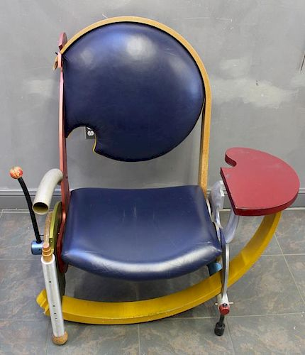 Impressive Jay Stanger Signed and Dated Chair.