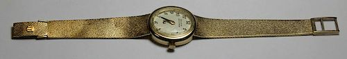 JEWELRY. Ladies Bulova Accutron 14kt Gold Watch.