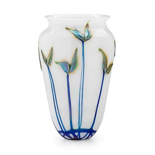 CHARLES LOTTON Glass vase