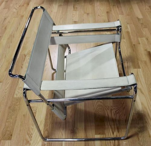 MIDCENTURY. Wassily Leather and Chrome Chair.