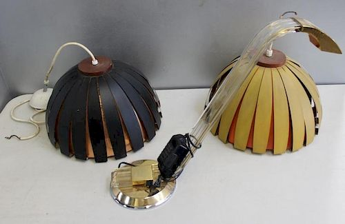 MIDCENTURY. Lighting Lot To Inc A Pair of Hanging