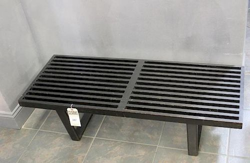 MIDCENTURY. George Nelson Black Slat Bench
