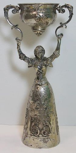 SILVER. German .800 Silver Wedding Wager Cup.