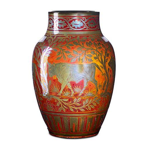 RICHARD JOYCE; PILKINGTON Royal Lancastrian vase
