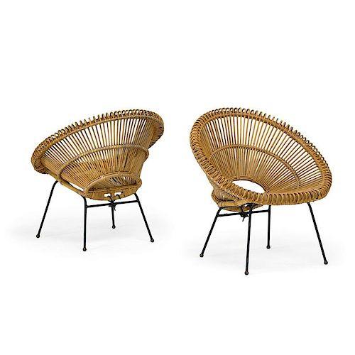 J. ABRAHAM & DIRK JAN ROL (Attr.) Pair of chairs