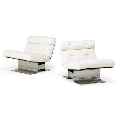 FRANCOIS MONNET Pair of lounge chairs
