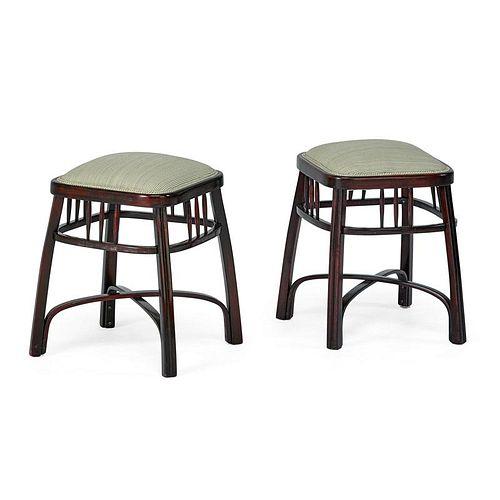 GUSTAV SIEGEL; J. & J. KOHN Pair of stools