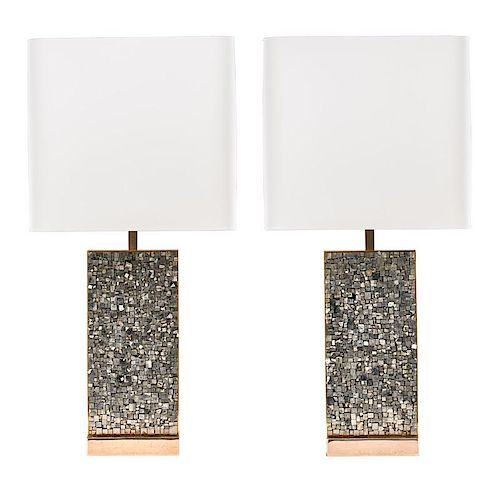 GEORGES MATHIAS Pair of table lamps