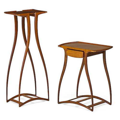 RICHARD TANNEN Two curved-leg tables