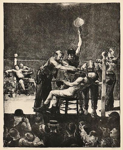 George Bellows (American, 1882-1925)  Between Rounds, Large, First Stone