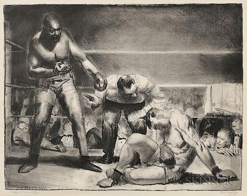 George Bellows (American, 1882-1925)  The White Hope
